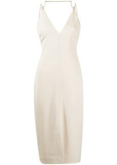 Dion Lee macramé-detail slip dress