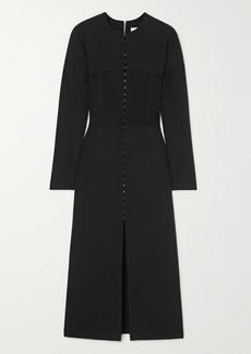 Dion Lee Off-the-shoulder Paneled Stretch-crepe Midi Dress