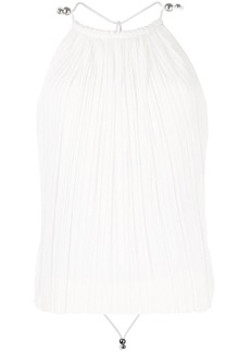 Dion Lee open back pleated blouse
