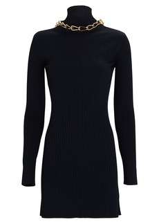 Dion Lee Open Back Turtleneck Mini Dress