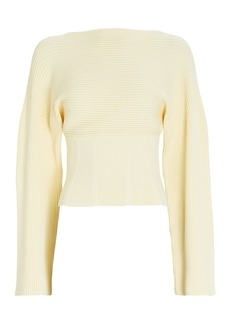 Dion Lee Ottoman Boat Neck Corset Sweater