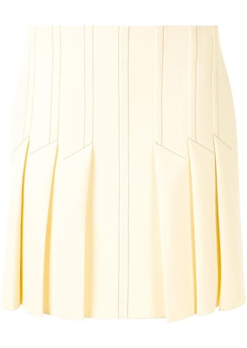 pleated design shorts