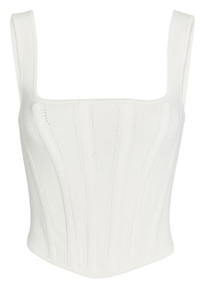 Dion Lee Pointelle Ribbed Jersey Corset