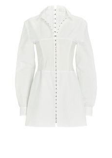 Dion Lee Poplin Corset Shirt Dress
