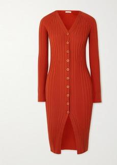 Dion Lee Ribbed Wool-blend Dress