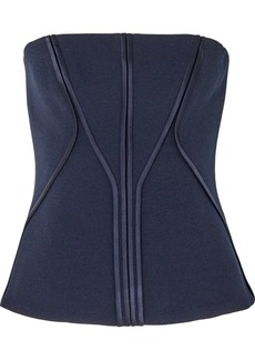 Dion Lee Satin-trimmed Stretch-crepe Bustier Top