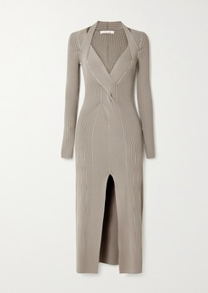Dion Lee Shadow Cutout Ribbed Stretch-knit Midi Dress