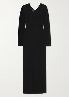 Dion Lee Shadow Inverse Layered Asymmetric Jersey Midi Dress
