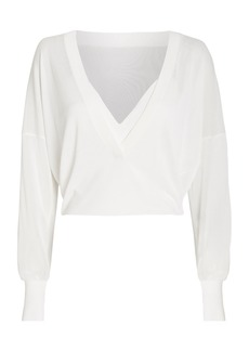 Dion Lee Sheer Knit V-Neck Top