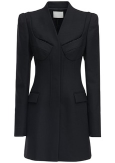 Dion Lee Tailored Virgin Wool Blend Blazer Dress