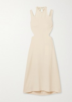 Dion Lee Tie-back Cutout Crepe Midi Dress