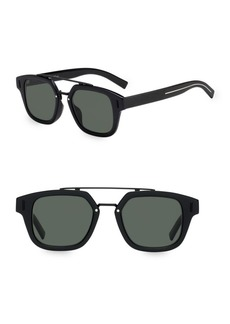 DIOR HOMME 49MM Tortoiseshell Square Sunglasses