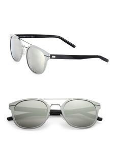 DIOR HOMME 52MM Round Aluminum Sunglasses