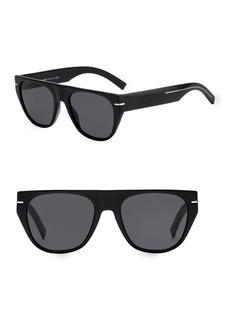 DIOR HOMME 53MM Tortoiseshell Round Sunglasses