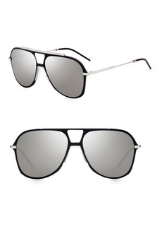 DIOR HOMME 99MM Aviator Sunglasses
