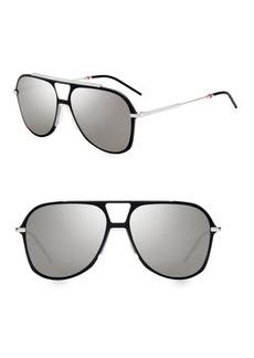 Christian Dior 99MM Aviator Sunglasses