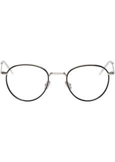 DIOR HOMME Black & Silver Round 213 Glasses