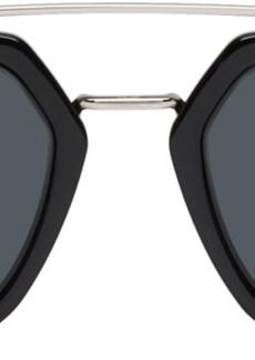 DIOR HOMME Black DiorFraction1 Sunglasses