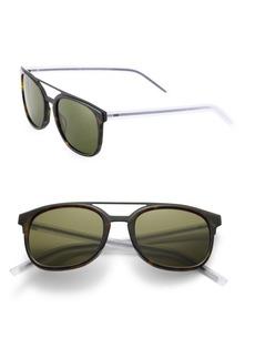 DIOR HOMME Black Tie 22 53MM Round Panto Sunglasses