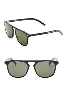 DIOR HOMME Black Tie 24 52MM Square Sunglasses
