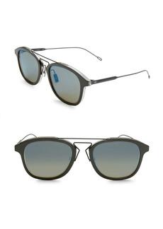 DIOR HOMME 52MM Round Mirrored Bridge Sunglasses
