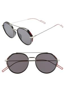 Christian Dior Dior Homme 53mm Round Sunglasses