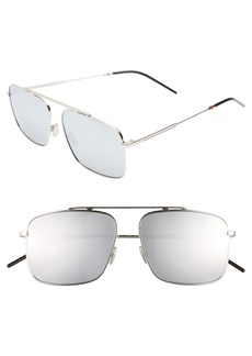 Christian Dior Dior 58mm Mirrored Navigator Sunglasses