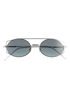 Dior Homme Architect 53mm Oval Aviator Sunglasses