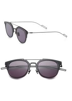 DIOR HOMME Composit 62MM Round Sunglasses