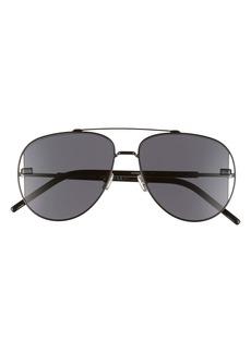 Dior Homme Diorscale 58mm Polarized Aviator Sunglasses