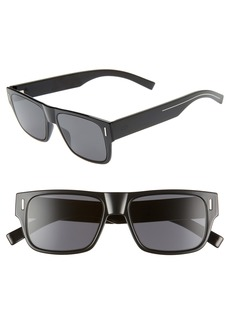Christian Dior Dior Homme Fraction4 54mm Rectangular Sunglasses
