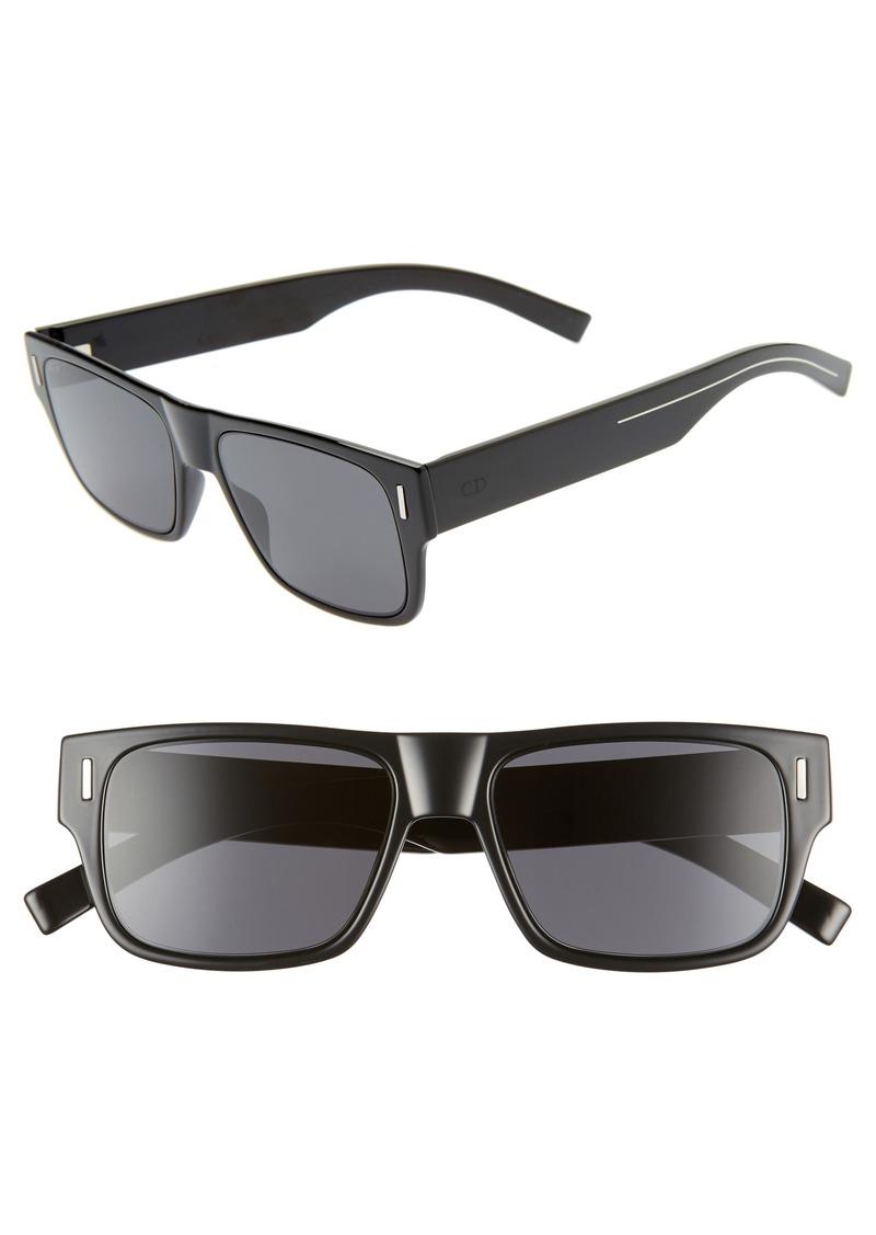 Christian Dior Dior Fraction4 54mm Rectangular Sunglasses