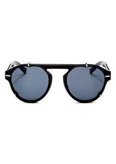 a513640af2e Dior Homme Men s Black Tie Flat Top Round Sunglasses