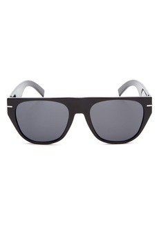 Dior Homme Men's Black Tie Flat Top Square Sunglasses, 62mm