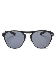 Dior Homme Men's Diorchrome Brow Bar Round Sunglasses, 51mm