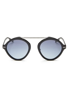 Dior Homme Men's Diorsystems Mirrored Brow Bar Round Sunglasses, 49mm