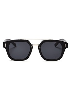 Dior Homme Men's Fraction Brow Bar Square Sunglasses, 50mm
