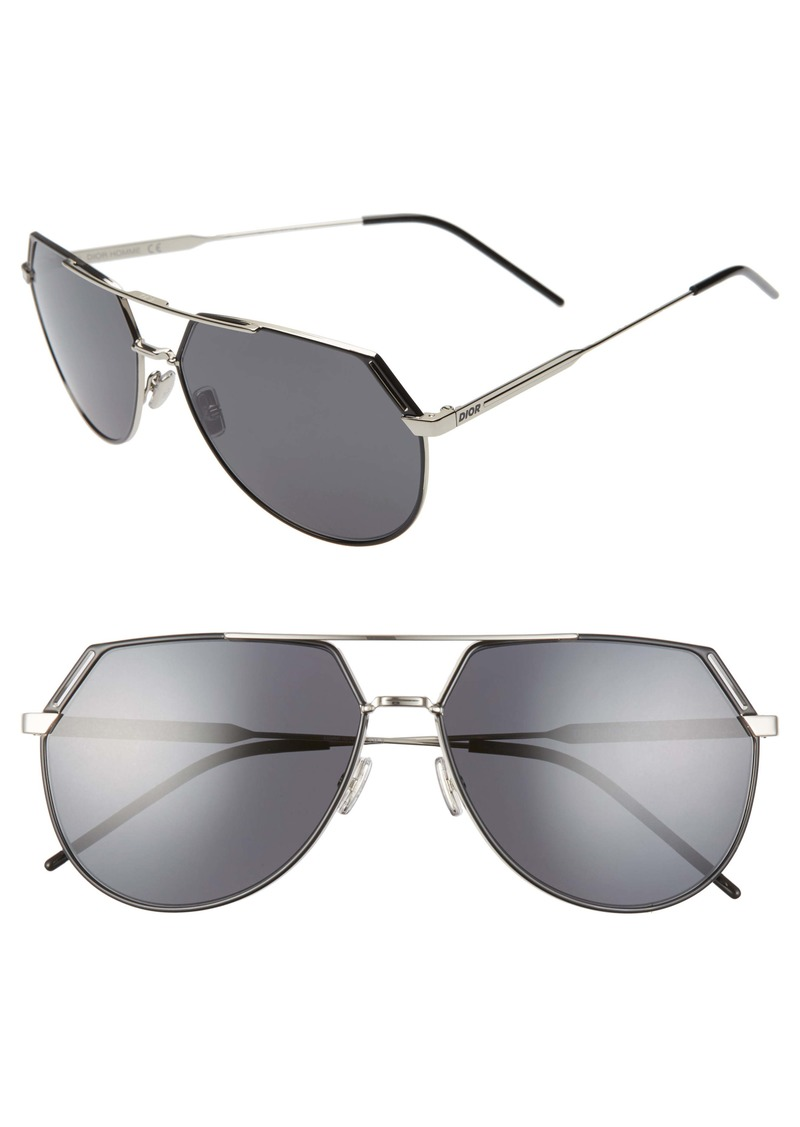 Christian Dior Dior Homme Ridings 62mm Oversize Navigator Sunglasses