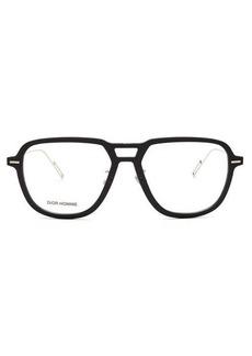 Dior Homme Sunglasses Diordissapear navigator metal glasses