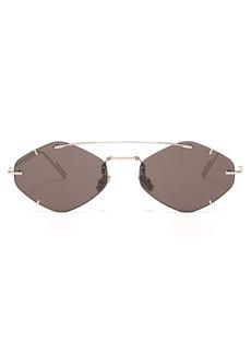 Dior Homme Sunglasses DiorInclusion round-frame metal sunglasses