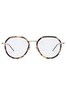 Dior Homme Sunglasses Round tortoiseshell-acetate glasses