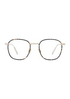 Christian Dior DiorBlacksuitO RF 50MM Metal Square Optical Glasses