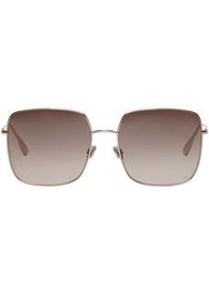 DIOR HOMME Gold & Brown 'Dior Stellaire 1' Sunglasses