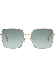 DIOR HOMME Gold & Grey 'Dior Stellaire 1' Sunglasses