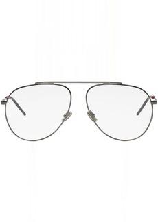 DIOR HOMME Gunmetal Aviator Glasses