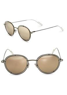 DIOR HOMME Round Openwork Sunglasses