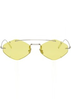 DIOR HOMME Yellow DiorInclusion Sunglasses