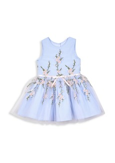 Disney Baby's & Little Girl's Gingham Embroidered Flare Dress