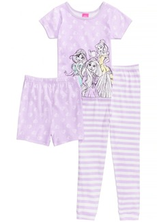 Disney's Princesses 3-Pc. Cotton Pajama Set, Little Girls & Big Girls, Created for Macy's