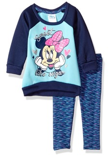 Disney Baby Girls 2 Piece Minnie Sweatshirt and Space Dye Legging Set